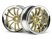 JANTE WORX XSA 02C 26mm CHROME/OR (6mm deport) HPI RACING 3298