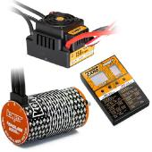 COMBO BRUSHLESS M9 1/8 150Amp WP + Moteur 4P. 4274 2200KV + carte de programmation